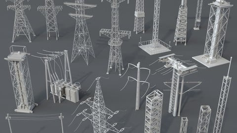 Electric Towers - 20 pieces
