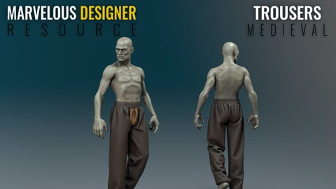 Trousers - Medieval - Marvelous Designer Resource
