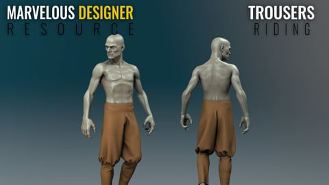 Trousers - Riding - Marvelous Designer Resource