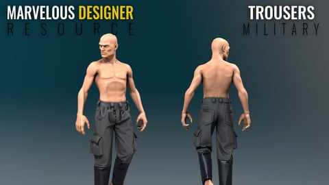 Trousers - Military - Marvelous Designer Resource