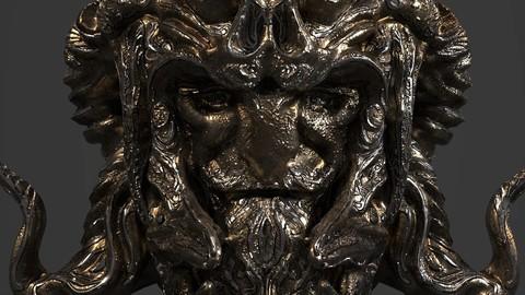 Fantasy Statue Head
