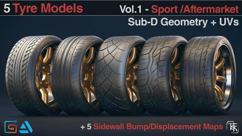 5 Tyre Models - Sport Aftermarket Vol 01