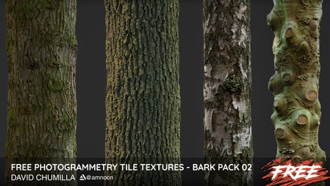 Photogrammetry Tile Textures - Bark Pack 02 - Free!