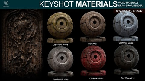 Wood materials 2 - For Keyshot