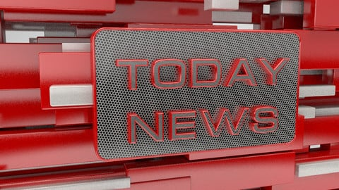 Animation text Today news