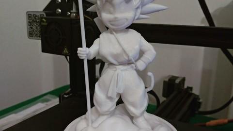 Kid Goku on flying Nimbus - Dragon Ball - 3D print model