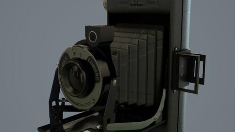 Vintage folding camera - Lumiere Lumix F 1949