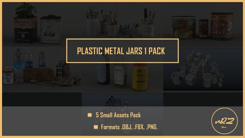 Plastic Metal Jars PACK