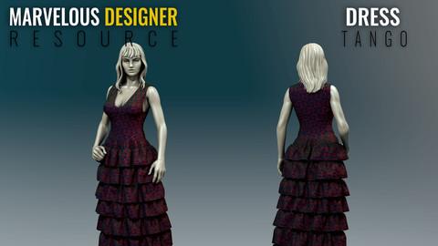 Dress - Tango - Marvelous Designer Resource