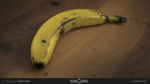 Banana 01 Photogrammetry Asset 3D PhotoScan