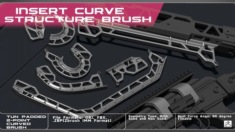 IMM Curved Weapon Structure Brush