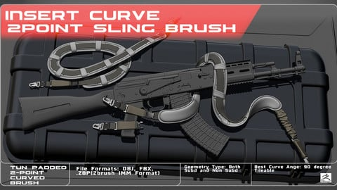 IMM Curved Brush Padded 2 Point Sling