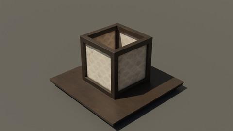 Japanese Wood Lamp 2