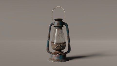 Old West Oil Lamp