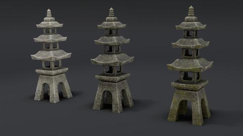 Japanese Stone Lantern 9