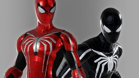 Spiderman Custom Suit design - 3D character asset