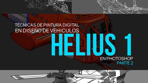 Nicolas Chacin, Técnicas de pintura digital y de diseño de vehiculos, Helius 1 concept Video Tutorial Parte 2