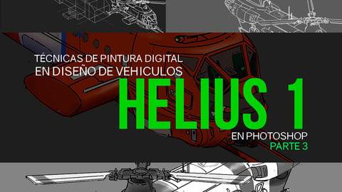 Nicolas Chacin, Técnicas de pintura digital y de diseño de vehiculos, Helius 1 concept Video Tutorial PARTE 3