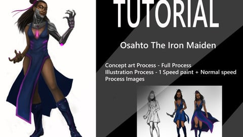 Osahto The Iron Maiden Concept Art process tutorial