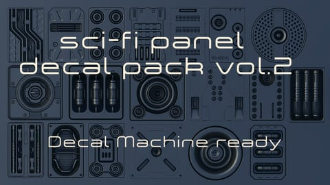 Scifi alpha decal panel pack v.2 - Decal Machine ready