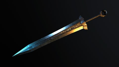 Big Sword - Low Poly Model