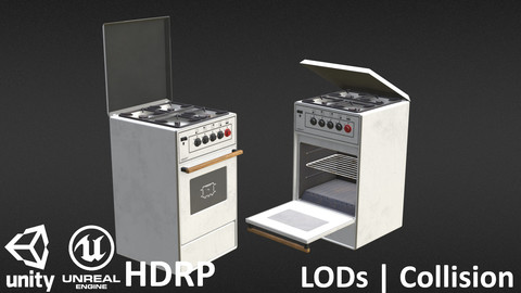 Retro Gas Oven White