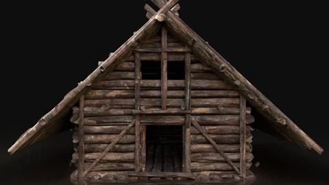 NEXT GEN AAA FANTASY MEDIEVAL VIKING WOODEN COTTAGE HOUSE HUT