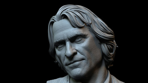 Arthur Fleck (Joaquin Phoenix) Joker - 3d Printable bust