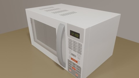 White Microwave - Game Assets