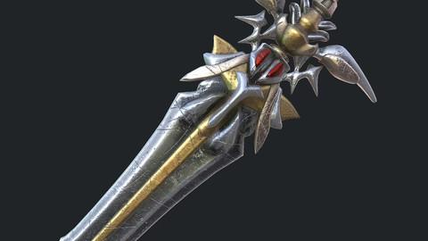 Fantasy sword 19 3d model