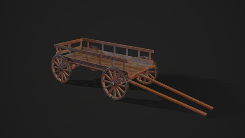 Low Poly Stylized Cart