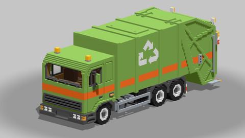 Voxel Garbage Truck