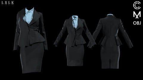 Women's unbalance collar Suit