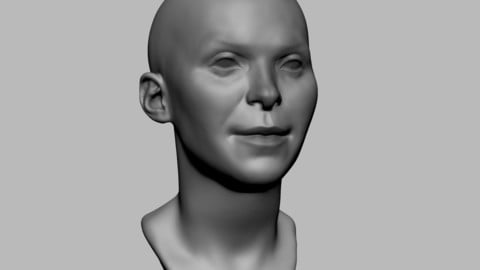 Base Female Head 04