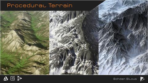 Procedural terrain generator - SBSAR
