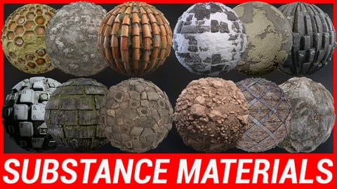 Substance Material Pack x 12