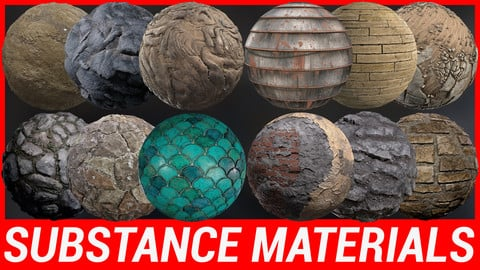 Substance Material Pack x 12 SBS 2K
