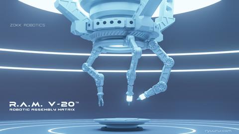 R.A.M. Robotic Assembly Matrix - robotic arm 3D scifi concept model