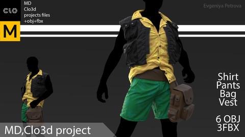 Marvelous Designer,Clo3d project. + obj+ fbx №D4