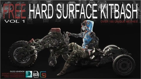 Hard Surface Kitbash Vol 1