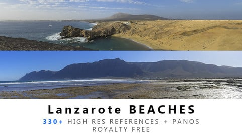 Lanzarote BEACHES Texture PACK
