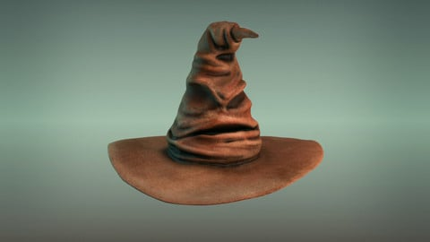 Harry potter hat - sorting hat Low-poly 3D model