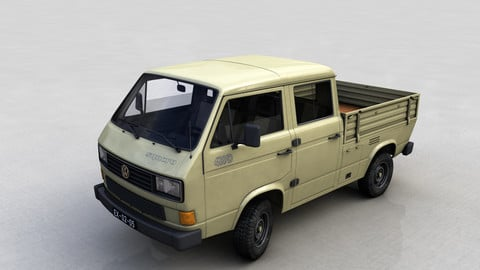 VOLKSWAGEN TRANSPORTER PICKUP DOUBLE CAB SYNCRO 1987