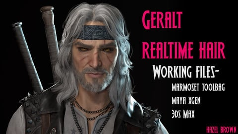 Geralt- Realtime hair toolbag scene and working XGen/3DSMax files