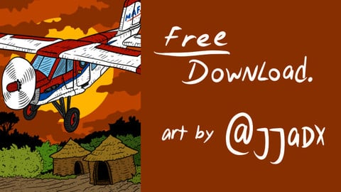 MAF airplane. free download. mission aviation fellowship aircraft artwork.