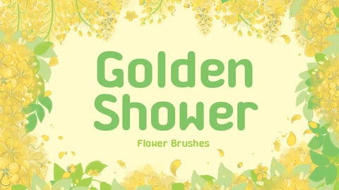 Golden shower flower brushes