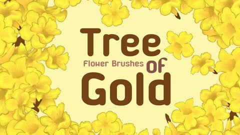 Tree of Golden Flower Brush