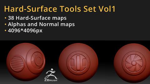 38 Hardsurface Maps Pack - Height/Alpha Vol1