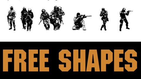 FREE 49 Sodiers shapes