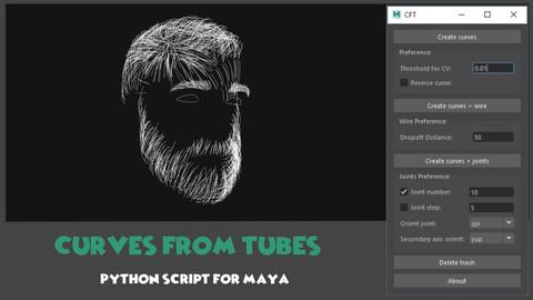 [Maya] Curves From Tubes